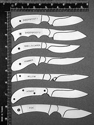 Utility and Working Knives, Artistic Fine Small Knives, caping knives, bird and trout, fine custom handmade knives