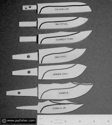 Hidden Tang Knife Patterns, Sailing Knives, Deer Knives, Field Dressing, Utility, Working Knife Patterns, fine custom handmade knives