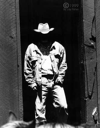 """The Faceless Cowboy"" Muleshoe ranch, New Mexico, mid 1990s"
