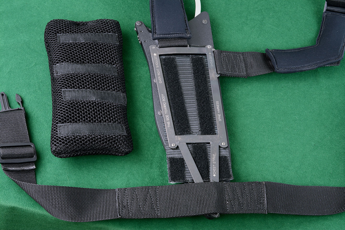 """Ananke"" modular sheath mount frame with pad anchor, mounted"