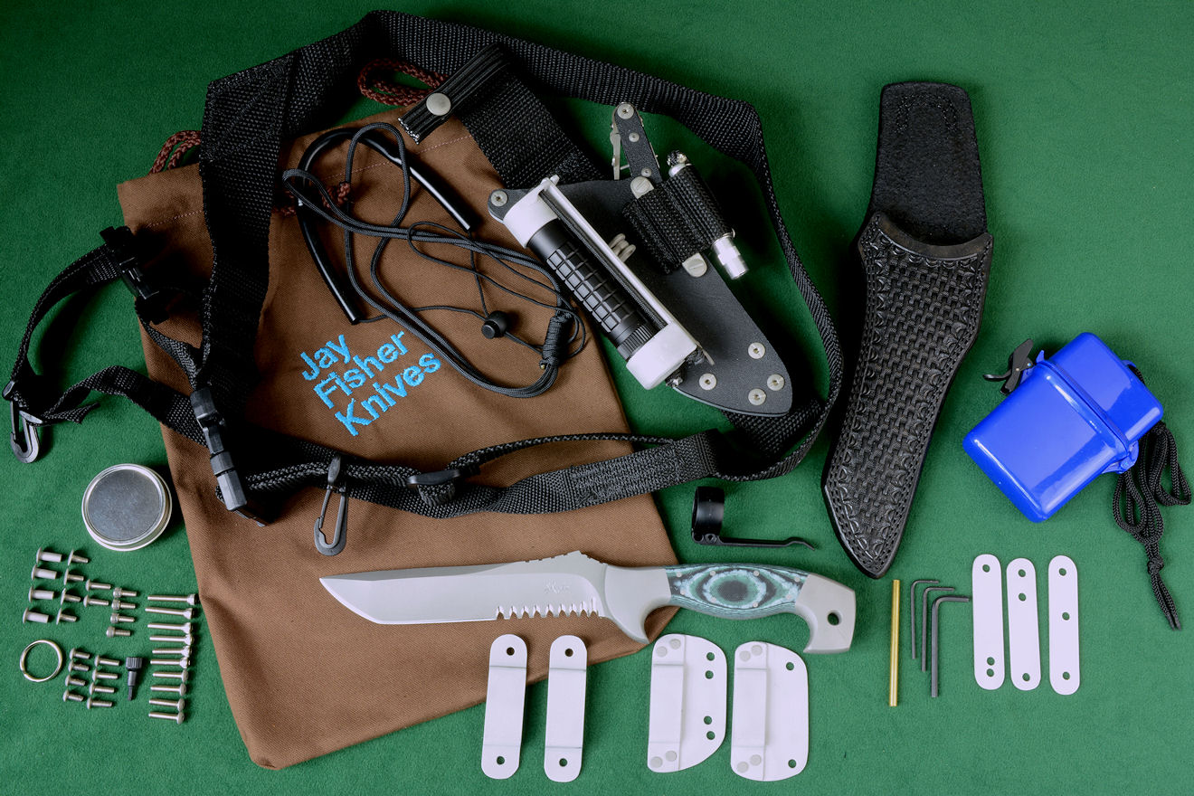 """Arctica"" tactical combat, rescue CSAR, Counterterrorism knife and accessory package"