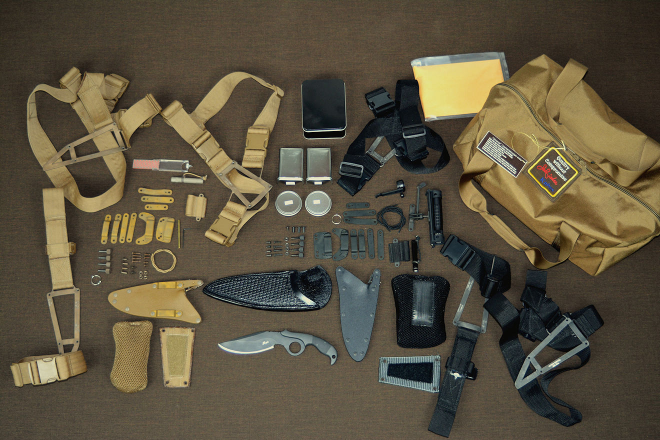 """Chronos"" modular knife system, component package. All items included in kit"