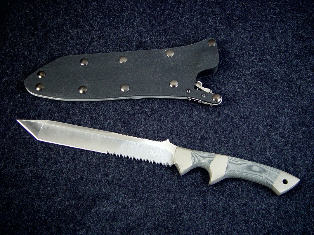 Canted Serrations on Minuteman EL Tactical combat military knife