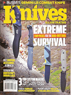 Knives Illustrated Magazine featuring article on Jay Fisher, page 76