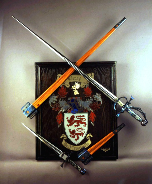 Fine, Handmade Custom Rapier, Sword, with Accompanying Parrying Dagger