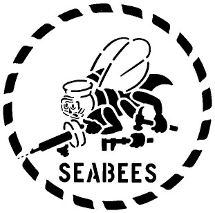 Official Emblem of the United States Navy Construction Battlions, The Seabees.
