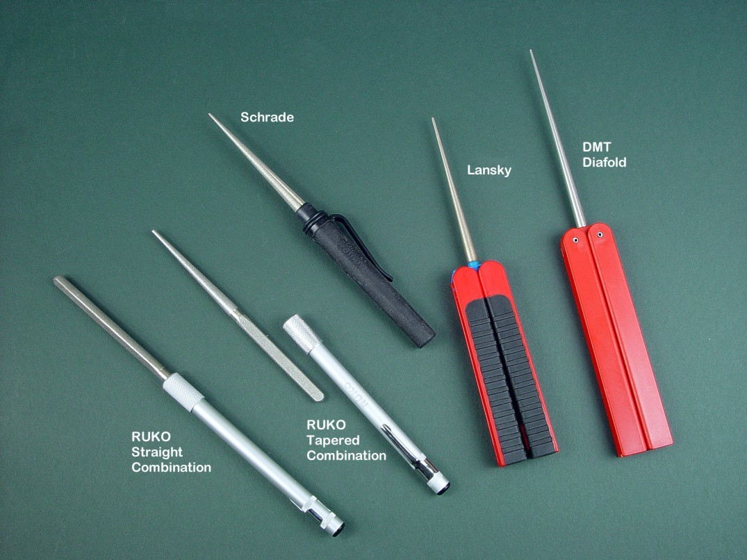 Diamond Abrasive coated rods for sharpening serrations on knives