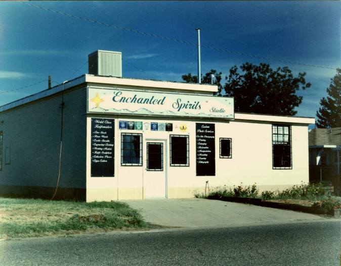 Enchanted Spirits Studio, early 2002, Clovis, New Mexico