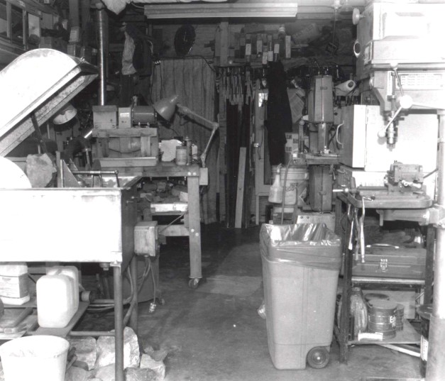 My Garage Studio, knifemaker's shop, early 1980's