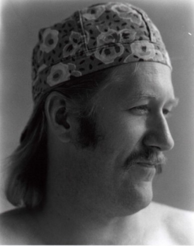 Jay Fisher in the 1980s in welding cap