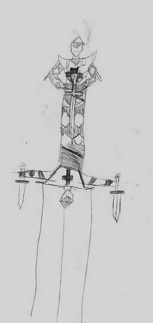 Submitted sword handle drawing.