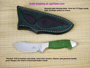Fine skinning, working, and investment grade custom knives