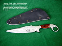 "USMC ""Bulldog"" commemorative, personalized knife blade, etched stainless steel, with crest, emblem, logos, and graphic  text"