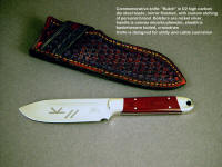 """Butch"" rancher's commemorative, working castrating and utility knife with etched brand on satin finished stainless steel blade"