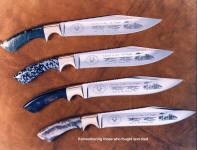 Viet Nam Veteran's knives in etched 440C stainless steel blades. Dedicated to those who fought and died in Viet Nam