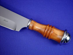 """Andrimne"" obverse side handle view. Peach is a very tough, very hard wood, and is beautiful."