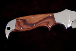 """Hooded Warrior"" handle detail, reverse side. Note beautiful grain of Kingwood, the wood of Kings"