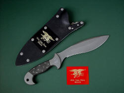 """Horus"" with archival, commemorative flashplate. After retirement of the knife, this plate will commemorate the service"