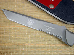 """PJLT"" Pararescue CSAR knife, obverse side view. This is a collaborative knife made by James Beauchamp and Jay Fisher"