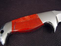 """Last Chance LT"" reverse side view. Tough and hard jasper will long outlast the blade and fittings, with a beautiful glassy polish"