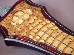 """Macha"" crocodile sheath front panel inlay detail"
