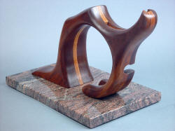 """Manaya"" base sculpture view. Ratios of base are the golden ratio, echoed in stand position and size."