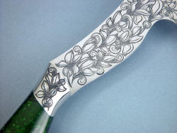 """Manaya"" engraving detail. Hard material stainless steel is hand-cut with carbide gravers"