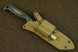 """PJLT"" sheath shown with LIMA, Lamp Independent Mount Assmembly with Maglite Solitaire LED lamp"