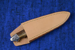 """Thuban"" PSD sheath, vertical, untreated, undyed leather shoulder, for wear under expensive suit jacket"