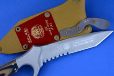 """Uvhash"" Pararescue Commemorative Combat knife, reverse side custom blade engraving detail"