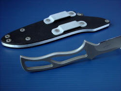 """Viper"" skeletonized knife has a very lightweight handle, good balance and low profile and weight"