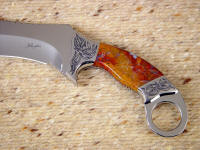 Polvadera Jasper is hard and tough enough for combat knife use