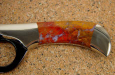 Polvadera Jasper is hard, tough, and solid, with agate and chalcedony throughout