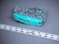 Turquoise Rough from Cananea, Mexico is hard and tough