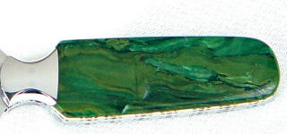 Verdite is colored by fuchsite, a chrome mica