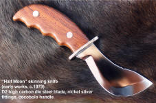 Half-Moon skinning knife blade example