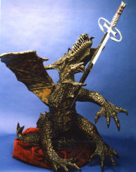 This is a very large, detailed thumb nailed photo of dragonslayer.