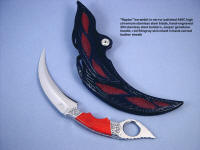 """Raptor"" double edged kerambit art, collector's knife"