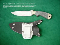 """Creature"" CSAR combat knife with reversible horizontal-vertical belt loop plate"