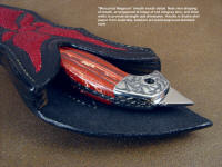 "Sheath mouth detail for ""Mercurius Magnum"" showing welt thickness, ramps, framing of handle in inlaid sheath body"