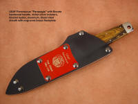 """Paraeagle"" combat Pararescue knife with tension kydex, aluminum, steel sheath"