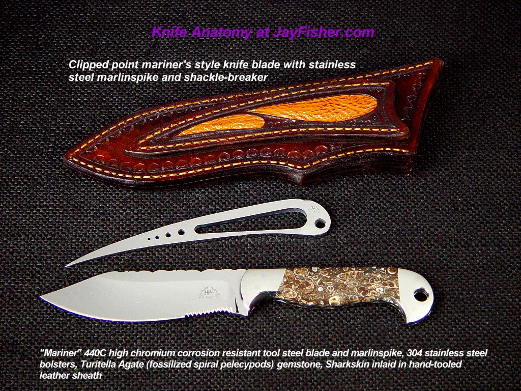 Knife Anatomy, Parts, Names by Jay Fisher