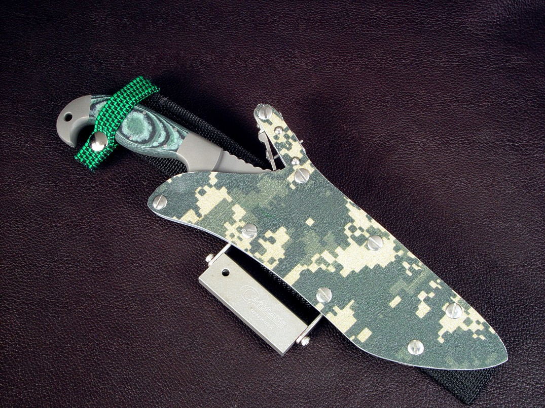 """Arcturus"" with locking digital kydex sheath and accessory package, tactical, combat, survival knives"