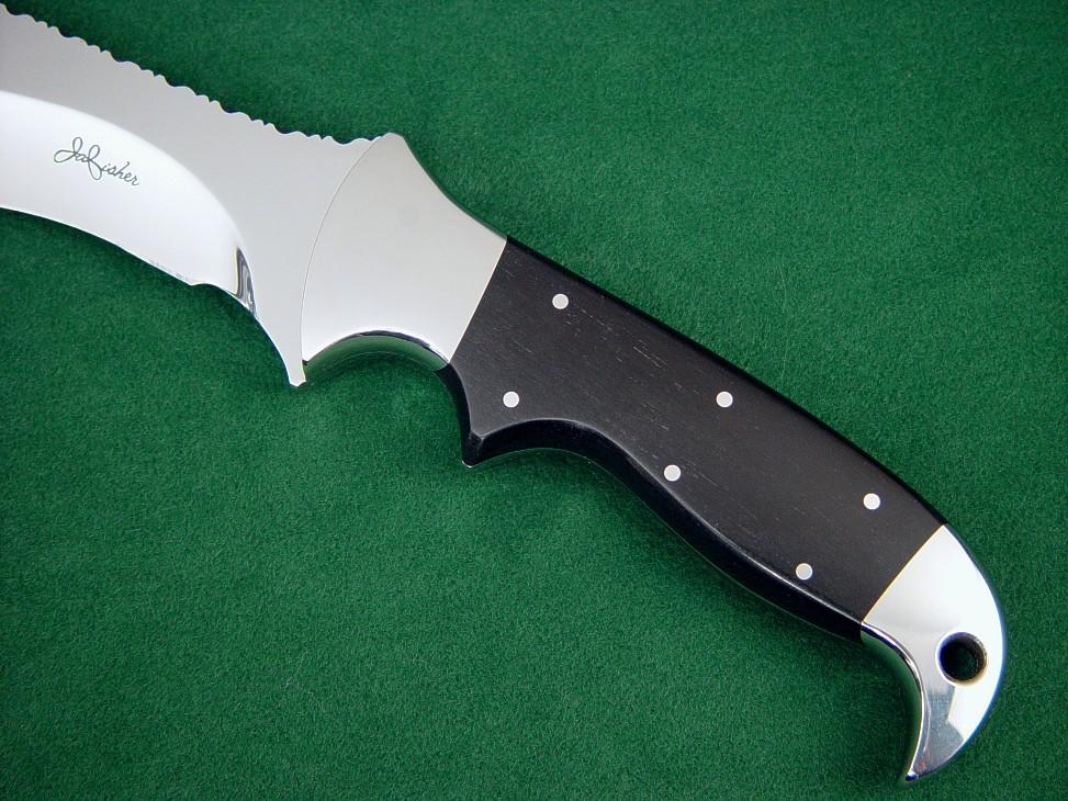 u0026quot hooded warrior el u0026quot  fine tactical  combat custom knife by jay fisher