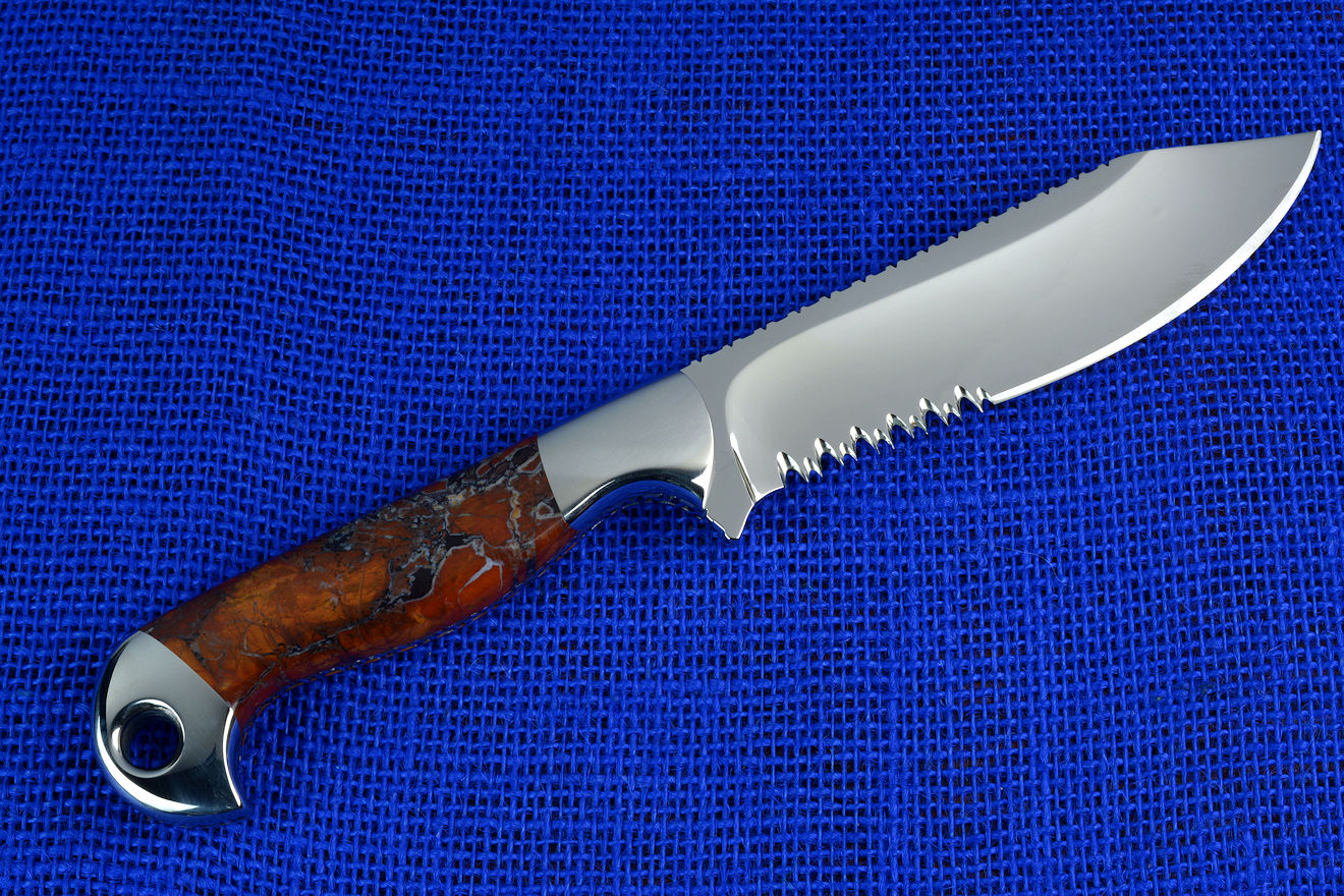 Hand crafted in the Black Hills from crosscut saw blad,Silver spoon and shed antler