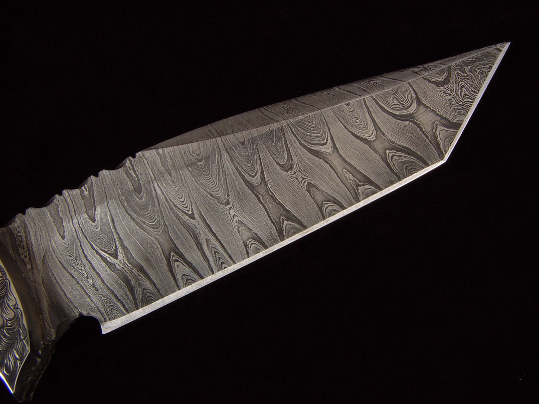 Pattern welded twist damascus in O1 and A36 steels