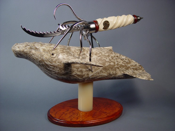 """Pacifica"" sculptural fantasy knife by Jay Fisher"