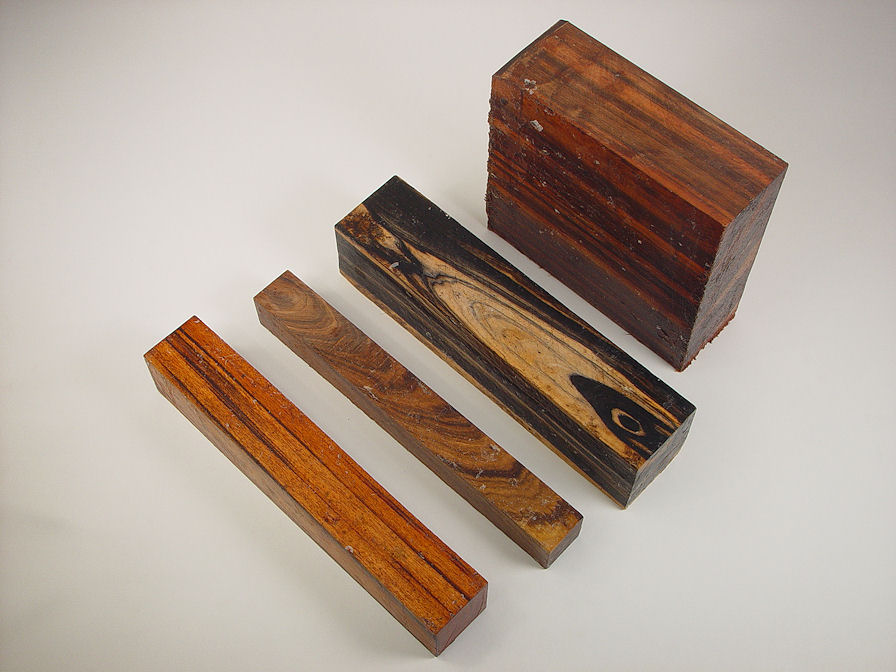 Exotic Hardwoods: Jobillo, African Sandalwood, Black and White Ebony, Mora