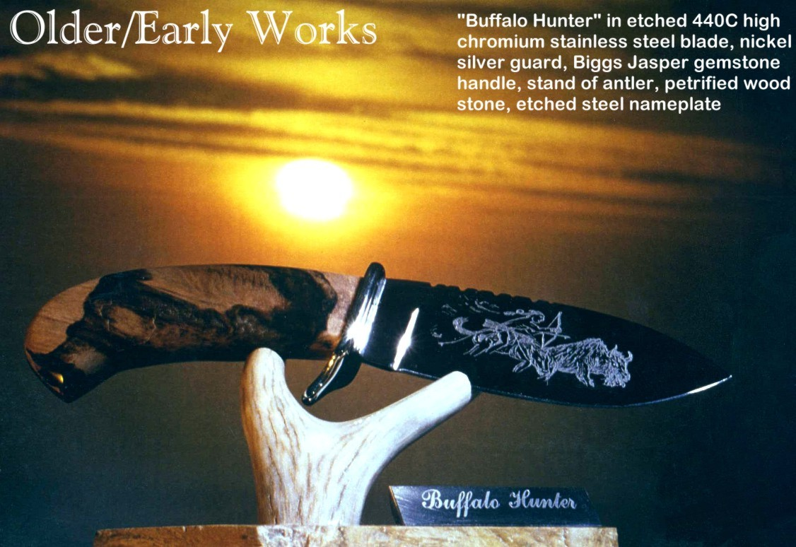 Custom Knife Handle Materials Horn Bone Ivory