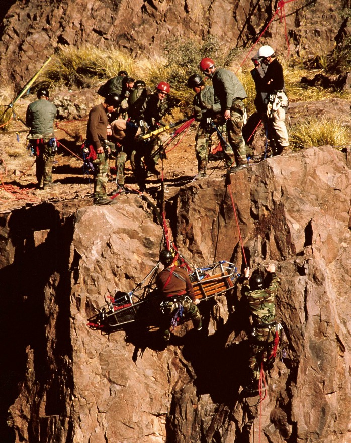 USAF Pararescue Training: Mountain Rescue Extraction. Photo by Jay Fisher